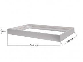 Stříbrný rámeček pro LED panel 300 x 600mm