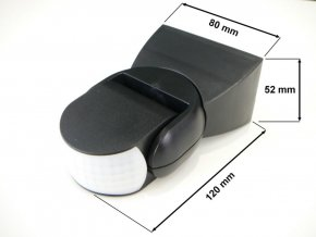 Pohybové čidlo IR IP65 (Vyberte barvu Černá)
