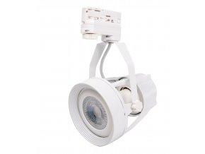 Bílé lištové svítidlo 3F + LED žárovka 12W (Barva světla Studená bílá)