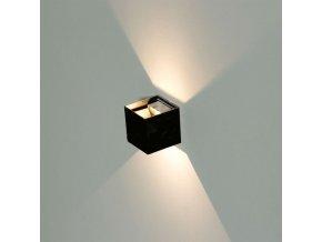 Černé fasádní LED svítidlo 6W