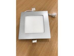 Stříbrný vestavný LED panel hranatý 120 x 120mm 6W - POSLEDNÍ KUS