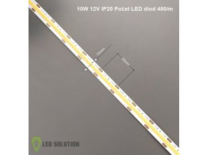 COB LED pásek 10W/m 12V bez krytí IP20