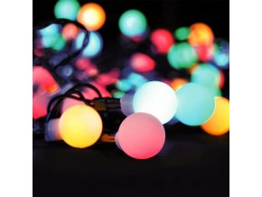Venkovní vánoční RGBW řetěz 20m