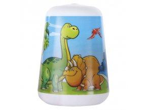 Dětská LED lampa se svítilnou Dino na baterie
