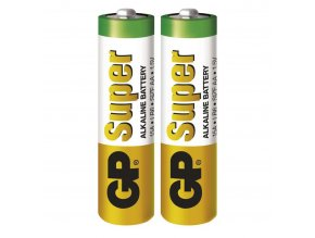 Alkalická baterie GP Super AA (LR6), 2 ks
