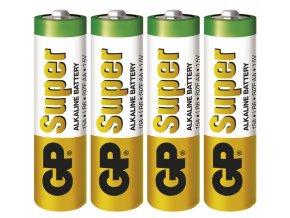 Alkalická baterie GP Super AA (LR6), 4ks