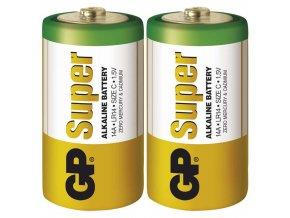Alkalická baterie GP Super C (LR14), 2ks