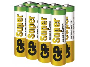 Alkalická baterie GP Super AA (LR6), 6+2ks