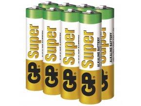 Alkalická baterie GP Super AAA (LR03), 6+2ks