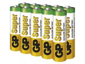 Alkalická baterie GP Super AA (LR6), 10ks