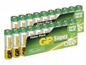 Alkalická baterie GP Super AAA (LR03), 20ks