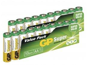 Alkalická baterie GP Super AA (LR6), 20ks