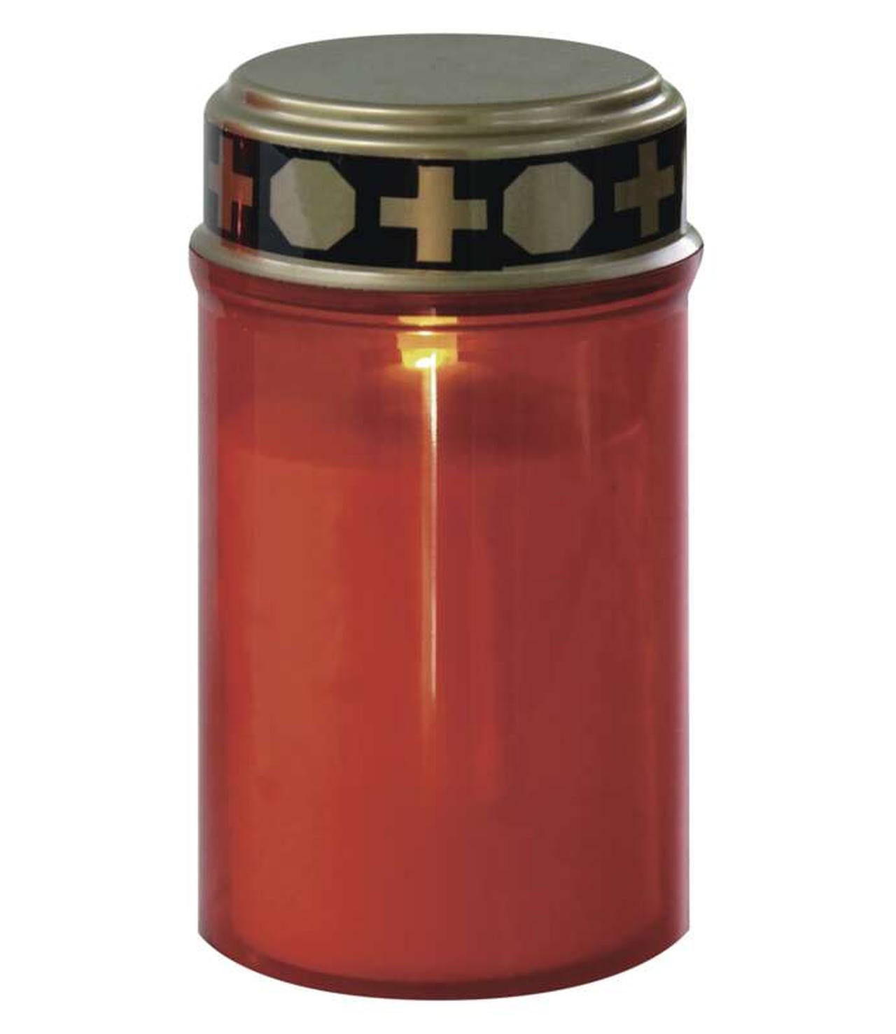 EMOS LED hřbitovní svíčka červená se senzorem DCCV20