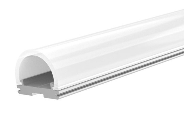 T-LED Hliníkový profil pro LED pásky TUBE Vyberte variantu a délku: Profil bez difuzoru (krytu) 1m