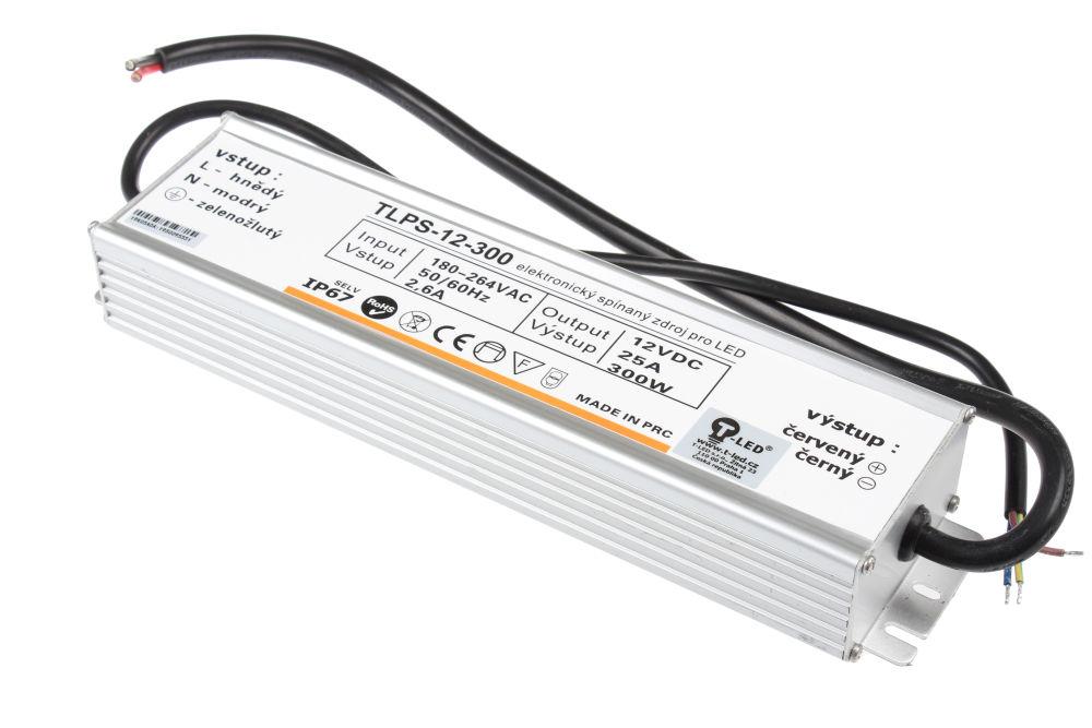 T-LED LED zdroj (trafo) 12V 300W IP67 SLIM