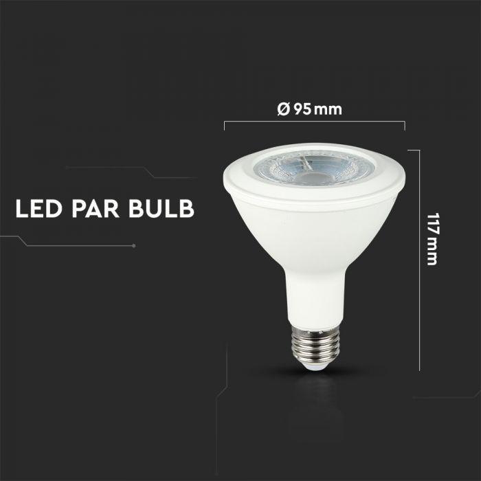 T-LED LED žárovka 12W E27 30° Barva světla: Denní bílá