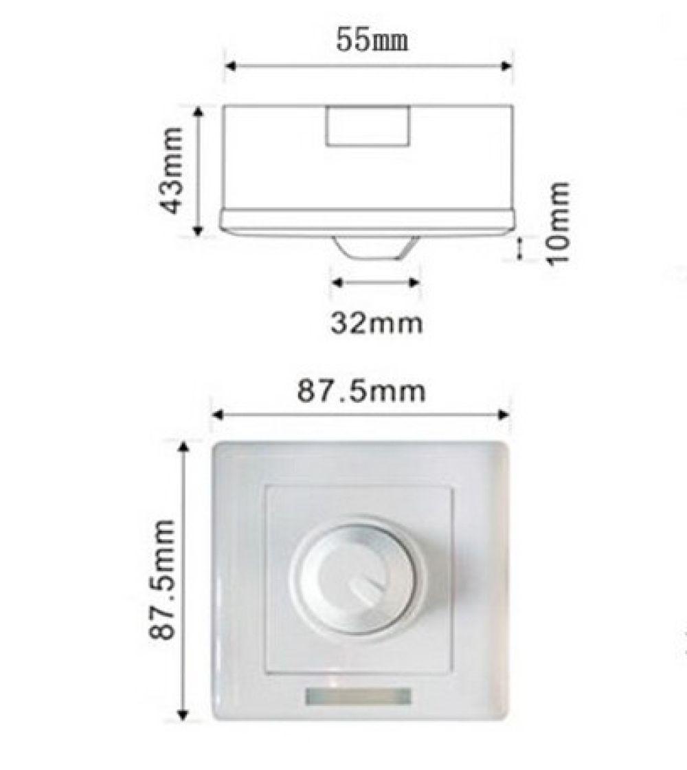 T-LED Stmívač manuální s IR ovládáním