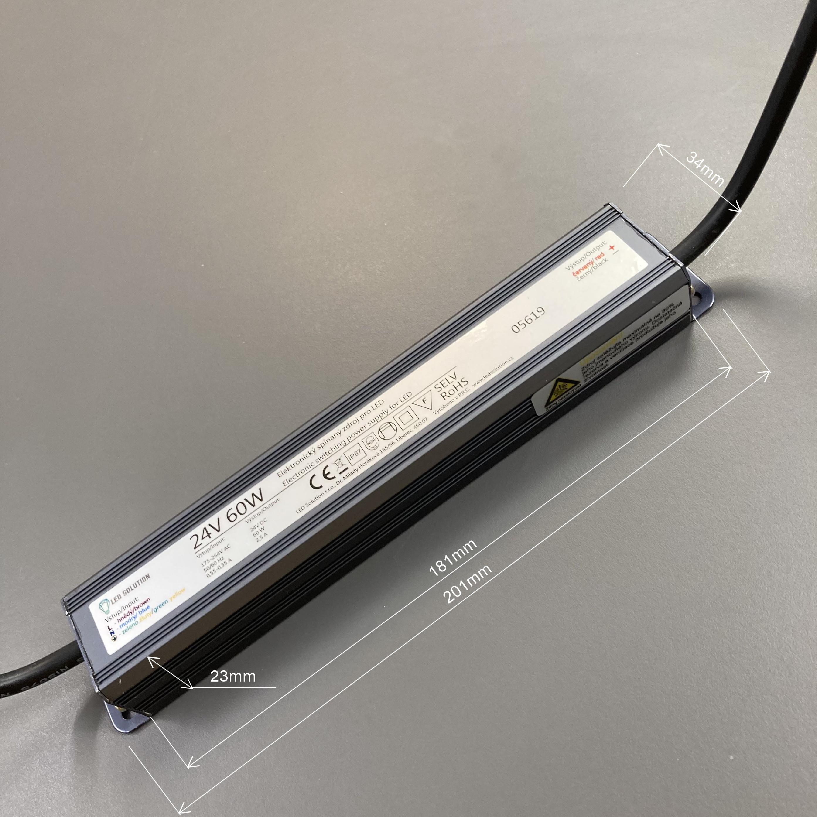 T-LED LED zdroj (trafo) 24V 60W IP67