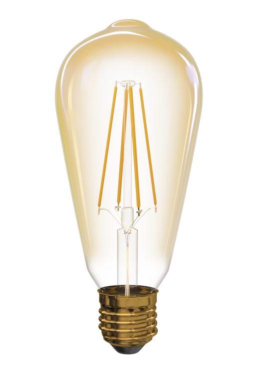 T-LED LED žárovka Filament 4W E27 oválná 032561