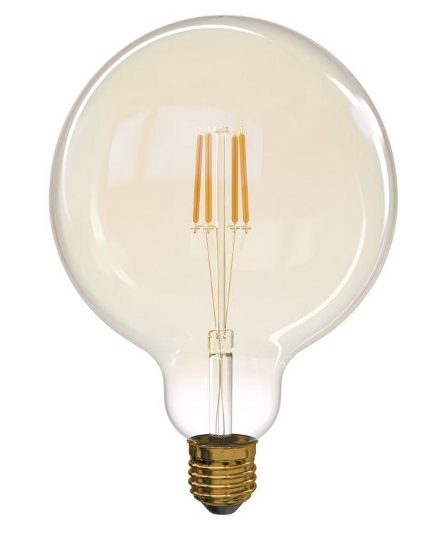 T-LED LED žárovka Filament 4W E27 kulatá 032562
