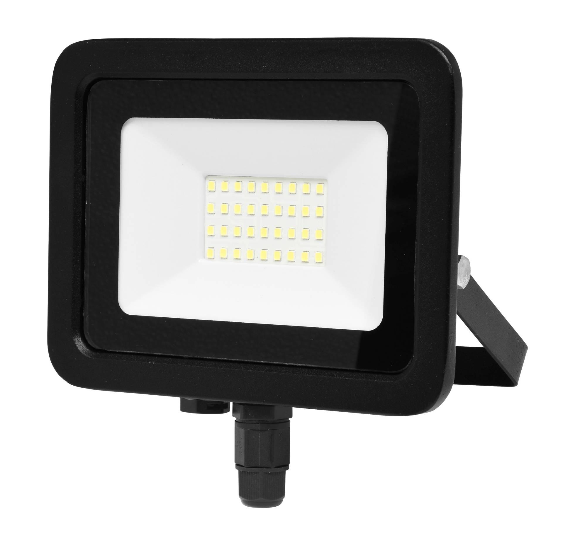 Ecolite Černý LED reflektor 30W Economy RLED48WL-30W