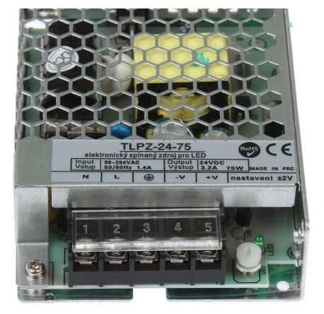 T-LED LED zdroj (trafo) 24V 75W - vnitřní