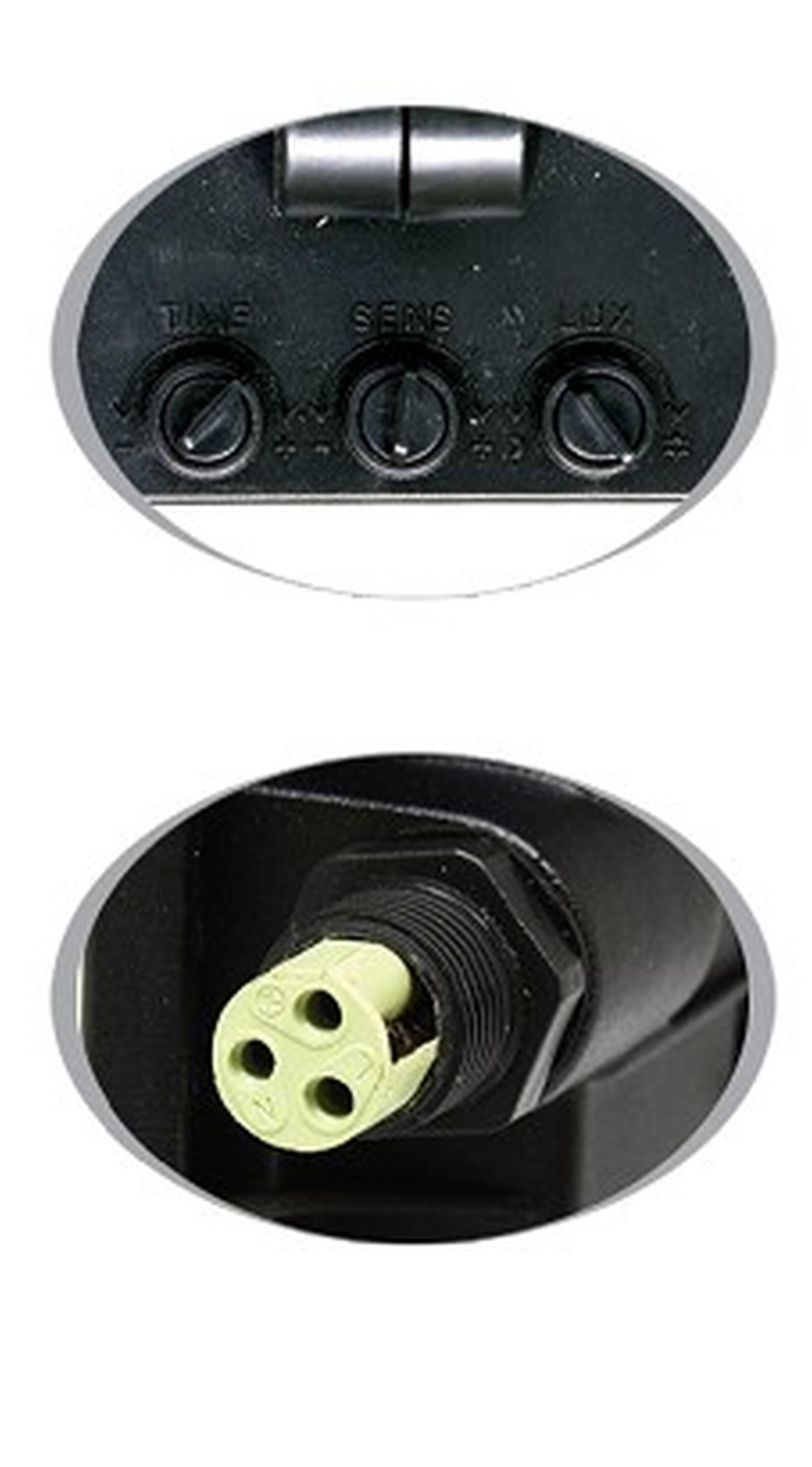 Ecolite Černý LED reflektor 20W s pohybovým čidlem