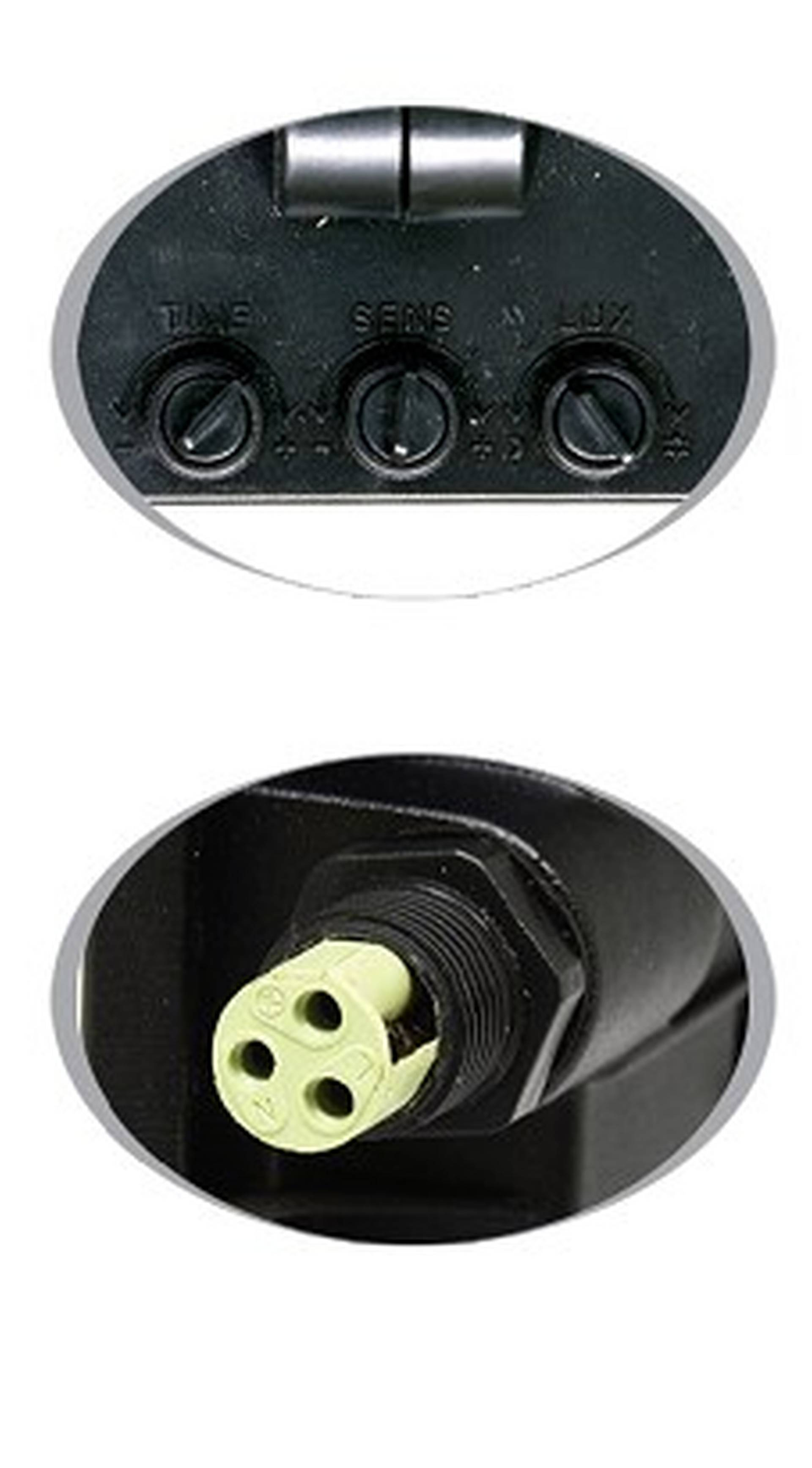 Ecolite Černý LED reflektor 30W s pohybovým čidlem