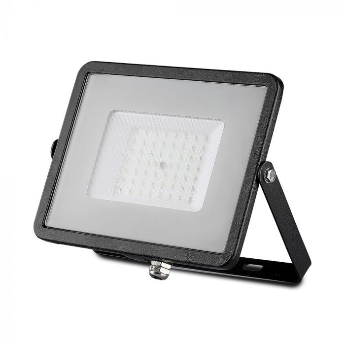 LED Solution Černý LED reflektor 50W Premium Barva světla: Teplá bílá
