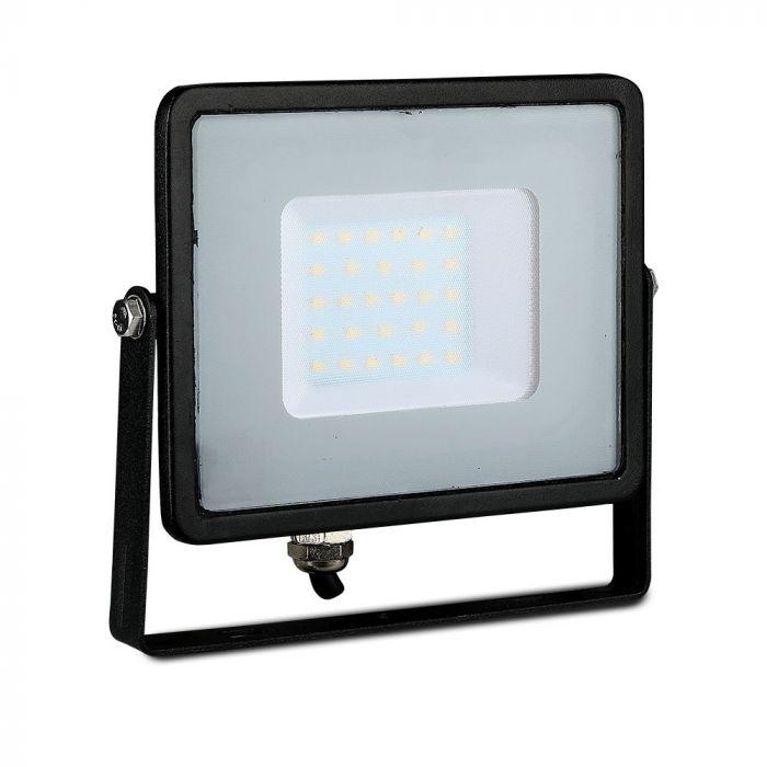 LED Solution Černý LED reflektor 30W Premium Barva světla: Teplá bílá