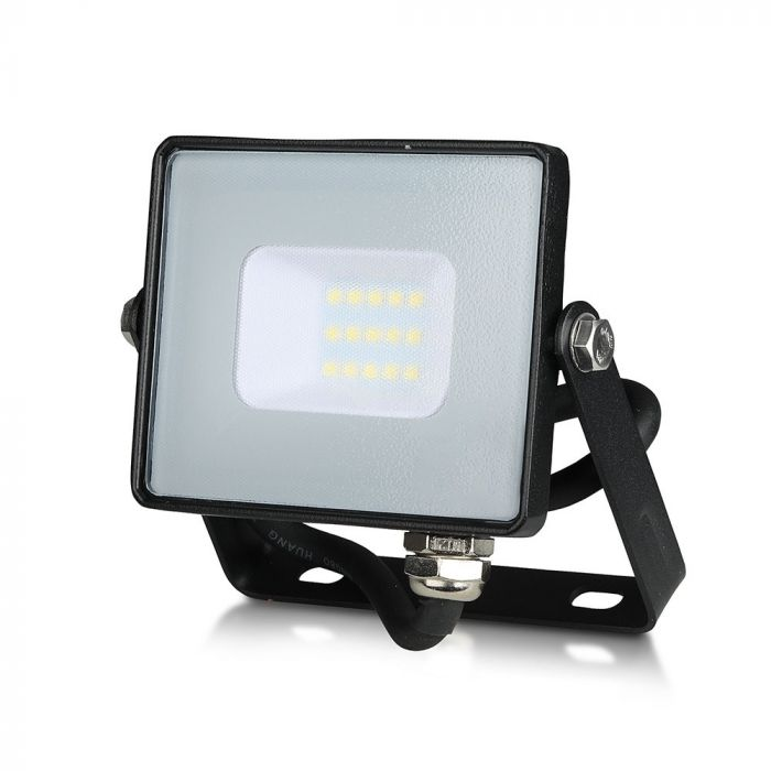 LED Solution Černý LED reflektor 10W Premium Barva světla: Teplá bílá