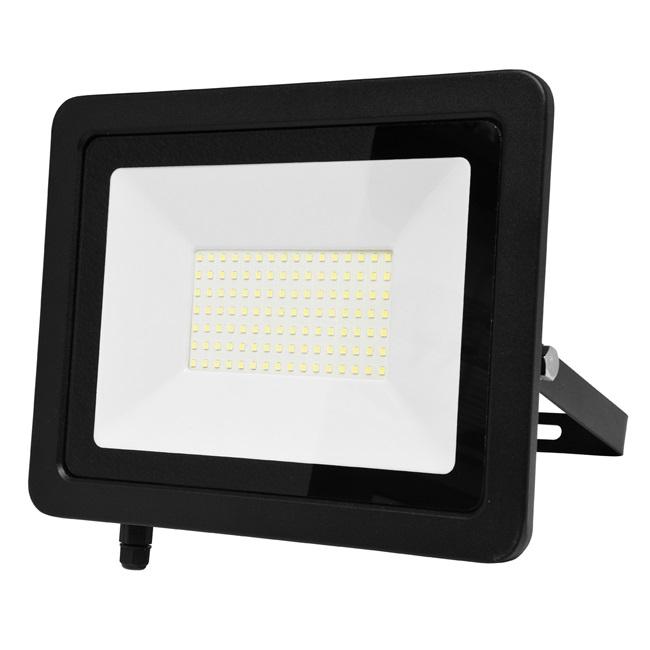Ecolite Černý LED reflektor 100W Economy