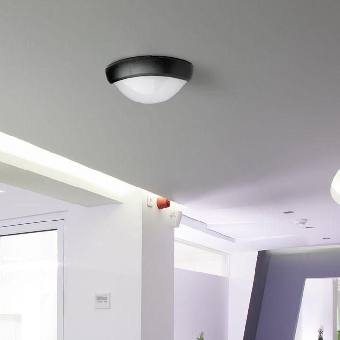 LED Solution Černé LED stropní/nástěnné svítidlo 12W IP66 Barva světla: Teplá bílá 1350