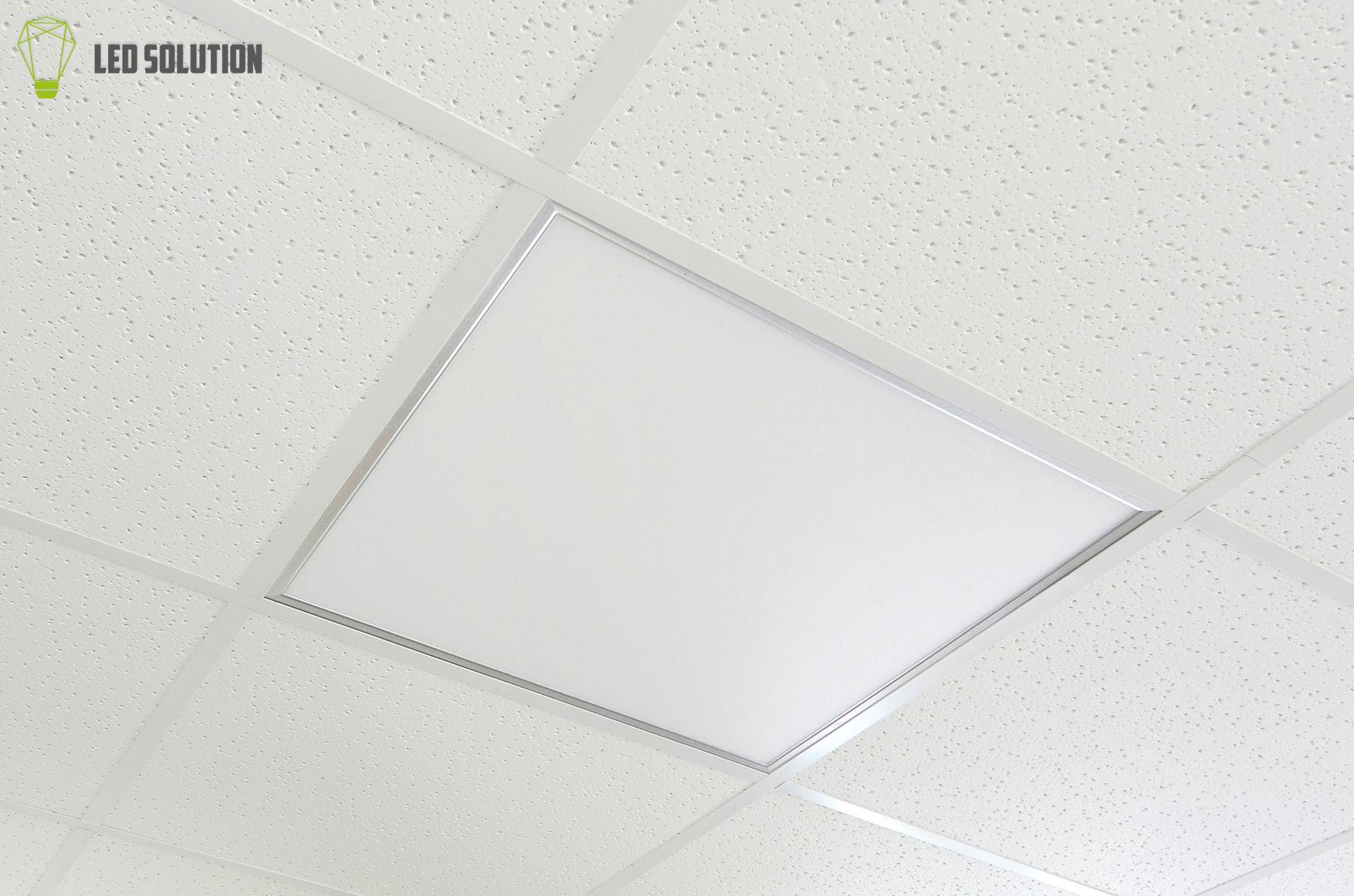 LED Solution Stříbrný podhledový LED panel 600 x 600mm 40W Premium Barva světla: Teplá bílá