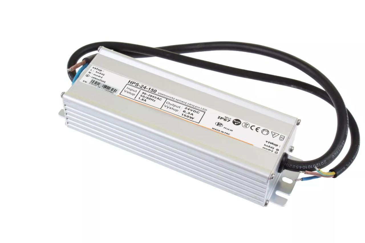 T-LED LED zdroj (trafo) 24V 150W IP67 Premium 051134