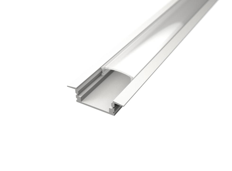 LED Solution Vestavný profil pro LED pásky V1 bílý délky a typy profilů: Profil + Nacvakávací opálový kryt 2m
