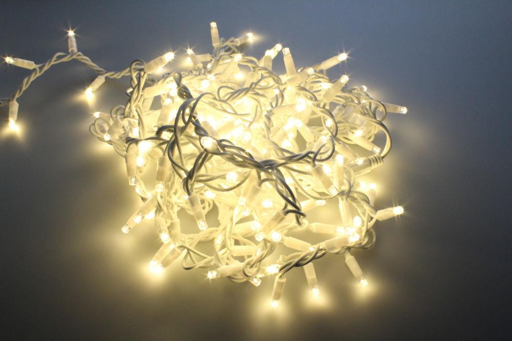 T-LED LED světelný řetěz 12W 230V 10M Barva světla: Teplá bílá