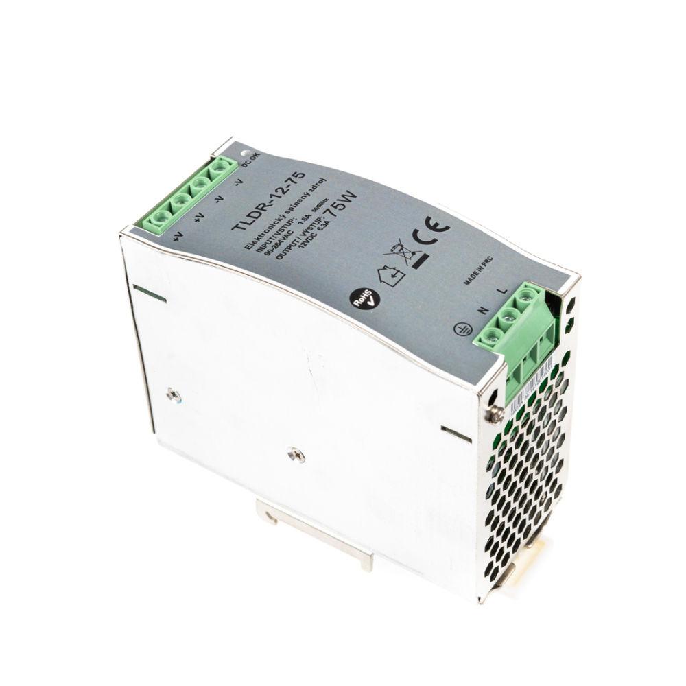 T-LED LED zdroj na DIN lištu 12V 75W