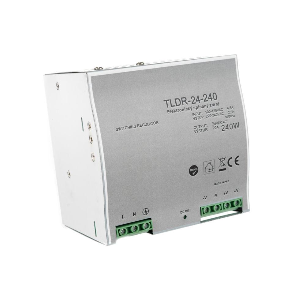 T-LED LED zdroj na DIN lištu 24V 240W