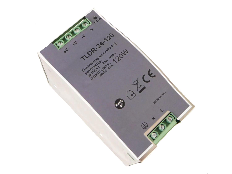T-LED LED zdroj na DIN lištu 24V 120W