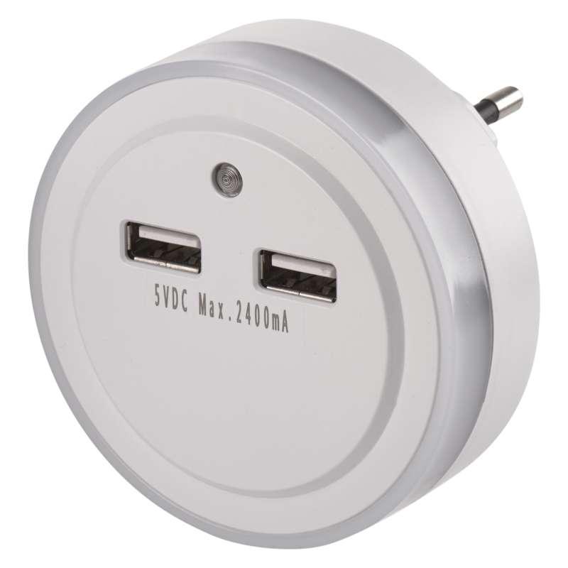 EMOS LED noční světlo s USB výstupy