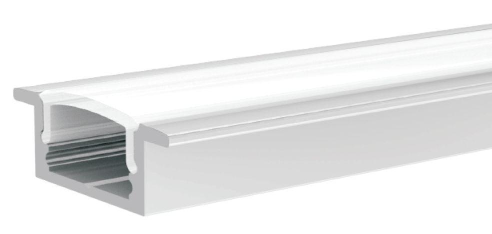 LED Solution Vestavný profil pro LED pásky V1 délky a typy profilů: Profil + Nacvakávací opálový kryt 2m