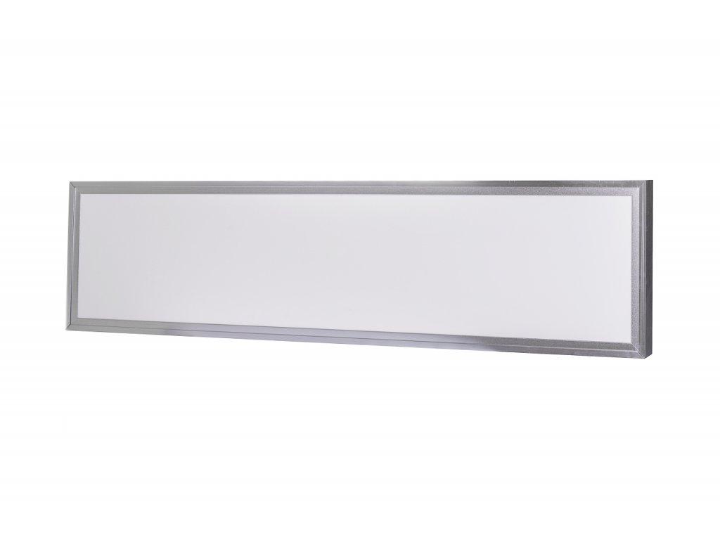 LED Solution Stříbrný přisazený LED panel s rámečkem 300 x 1200mm 40W Premium Barva světla: Denní bí