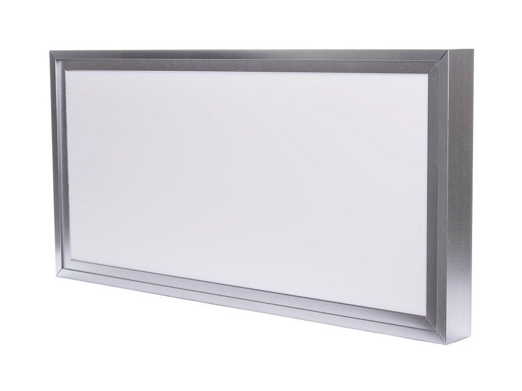 LED Solution Stříbrný přisazený LED panel s rámečkem 300 x 600mm 24W Premium Barva světla: Denní bíl
