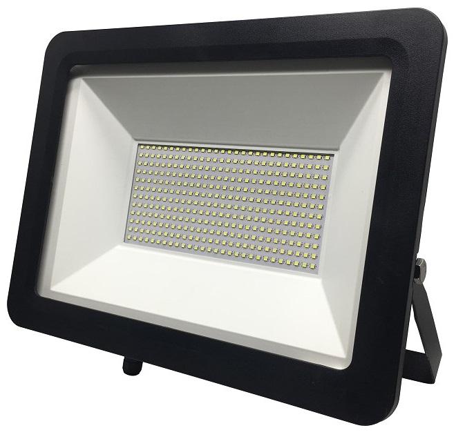 Ecolite Černý LED reflektor 200W Economy