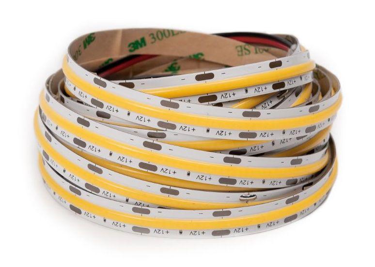 LED Solution COB LED pásek 10W/m 24V bez krytí IP20 Barva světla: Teplá bílá 191191