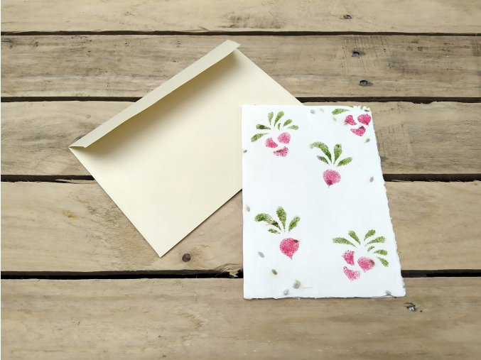 Rostoucí přání - semínka ředkviček, s obálkou