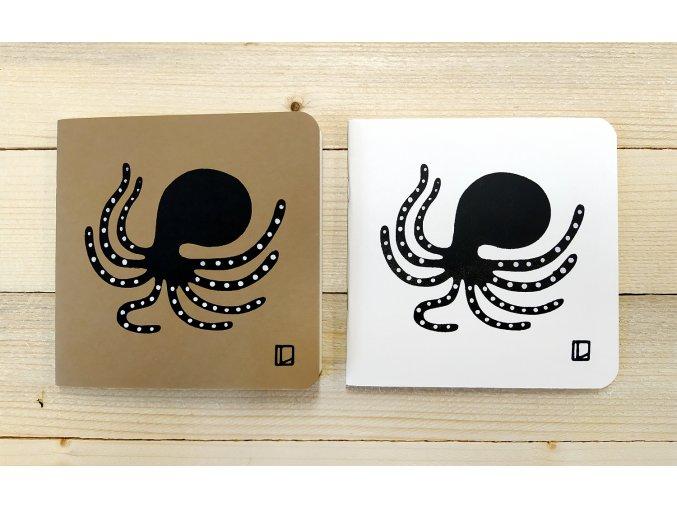 Sešit 14,5x14,5 cm - Lhotský ART - chobotnice
