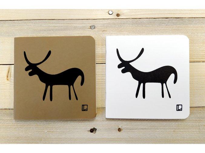Sešit 14,5x14,5 cm - Lhotský ART - jelen