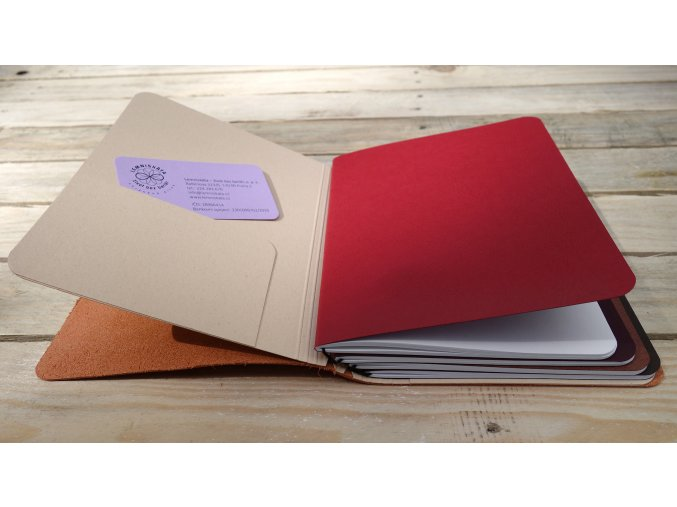 Přídavné desky pro velký kožený deník